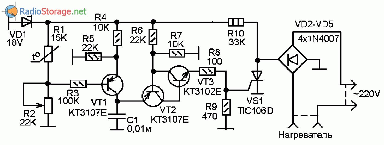 Терморегулятор на тиристорах